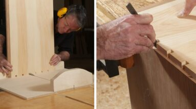 Dovetailing by machine and by hand – Shaker Dresser Episode 3