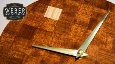 Make a Patterned Veneer Clock