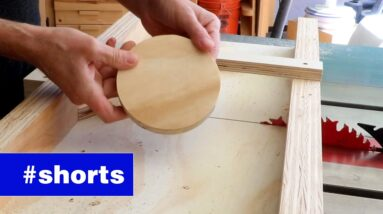How to cut circles with a table saw. #shorts