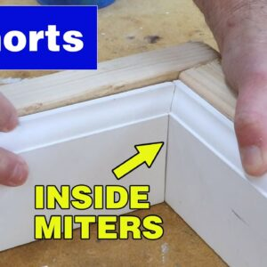 How to get baseboard miters to fit perfectly #shorts