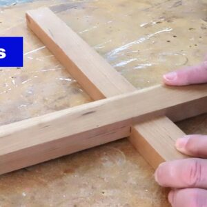 Making a half-lap joint with the crosscut sled. #shorts