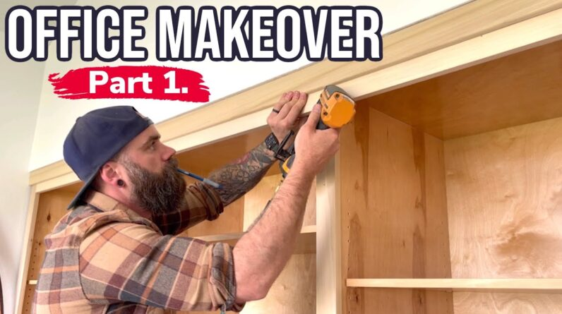 Build Cabinets the Easy Way    Before and After Office Makeover