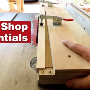 The simplest taper jig on YouTube. Essential woodworking shop project.